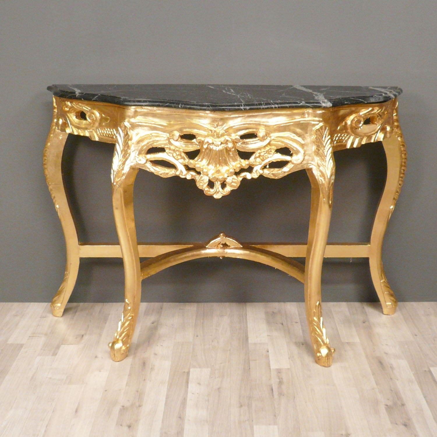 console louis xv en bois dor meubles de style. Black Bedroom Furniture Sets. Home Design Ideas