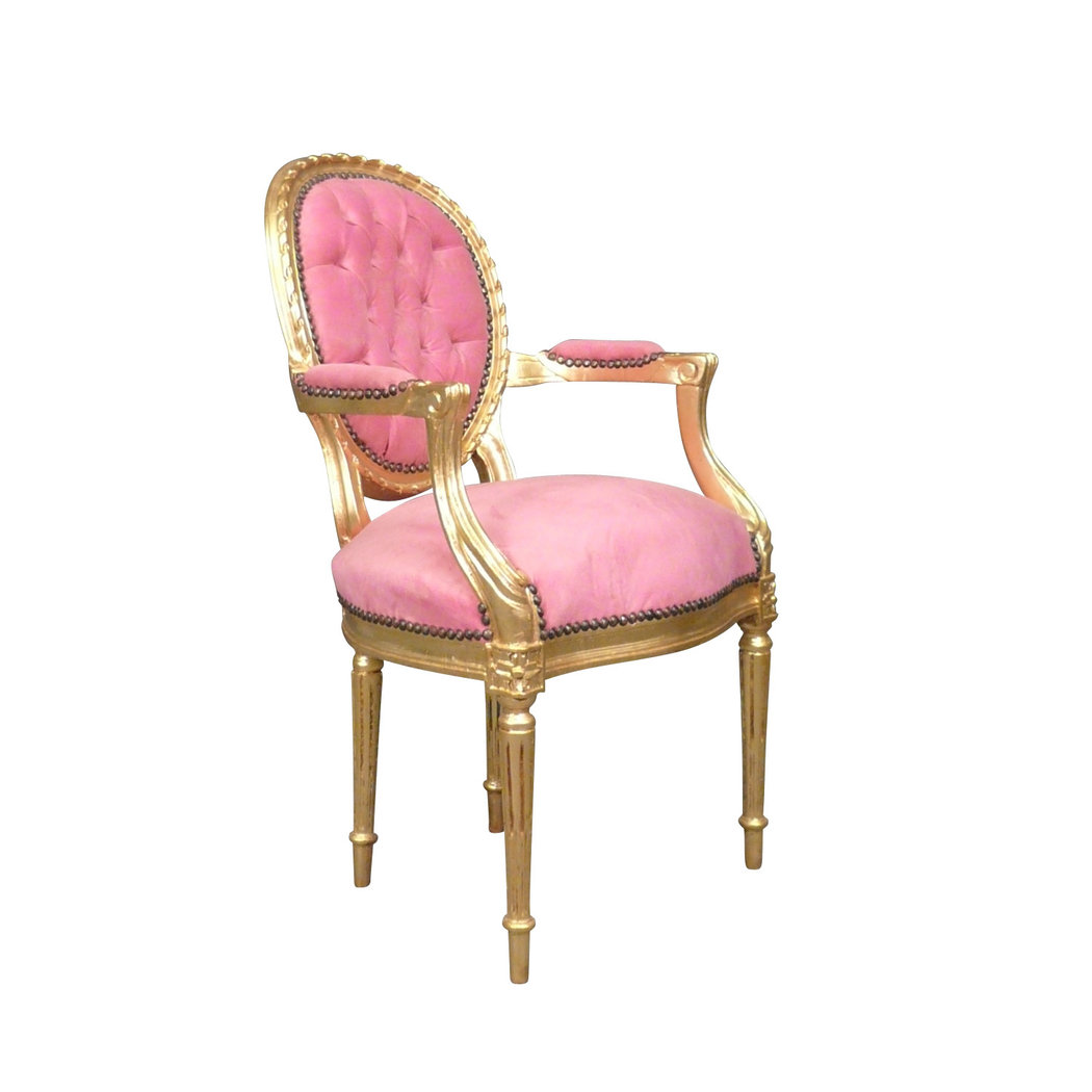 fauteuil louis xvi rose chaise baroque meuble louis xv. Black Bedroom Furniture Sets. Home Design Ideas