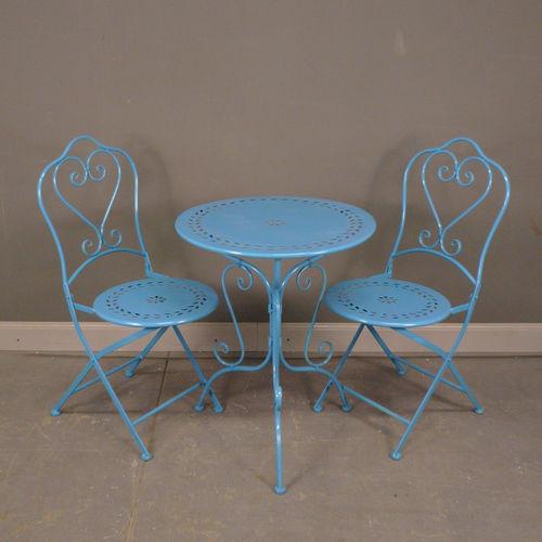Fer forg salon de jardin en fer forg chaise table - Salon de jardin fer forge blanc ...
